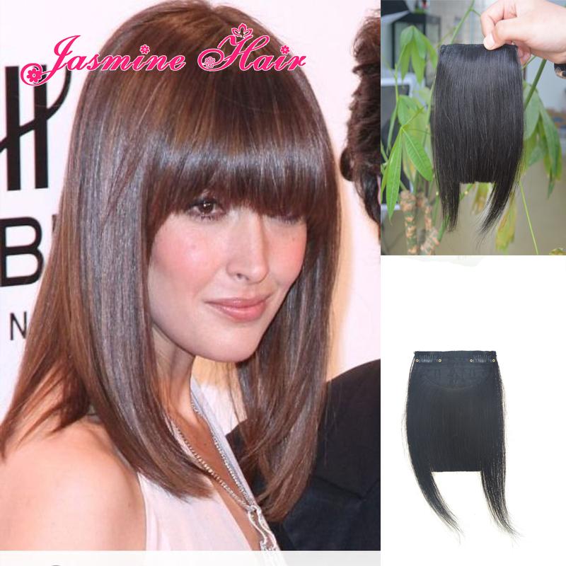 Natural Color Human Hair Bangs Clip In Hair Extension Bangs Virgin Indian Human Hair Fringe Bangs Fast Shipping