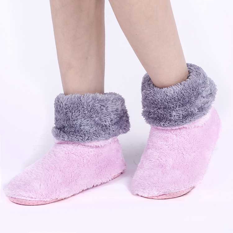 Pink Thick Warm Home Shoes Soft Coral Fleece Indoor Floor Socks ,Winter Soft Sole Floor Slipper Best Quality Home Shoes fit Most<br><br>Aliexpress