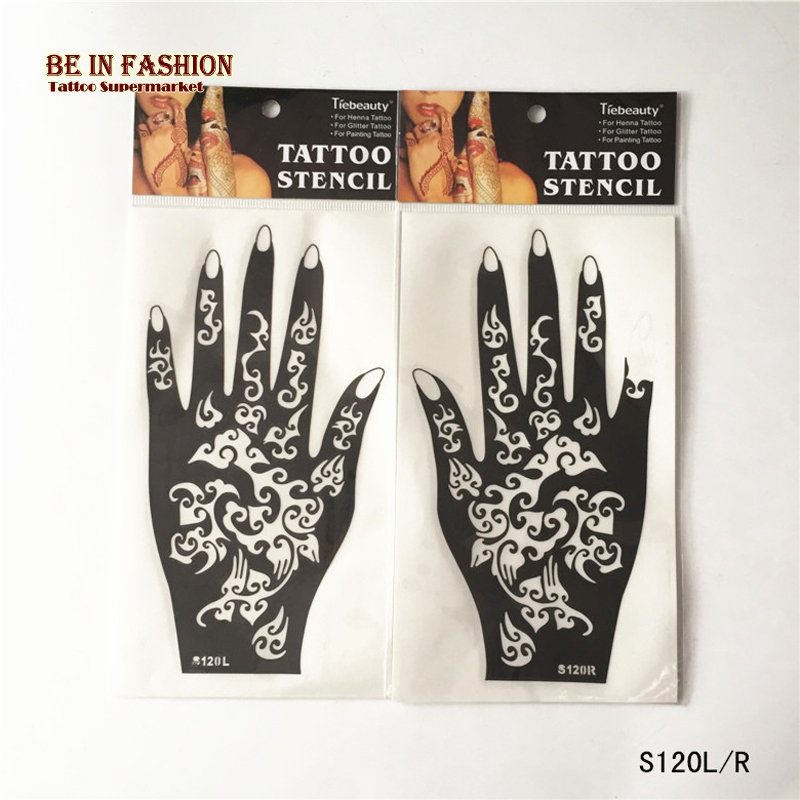 2pcs New styles Tattoo Airbrush Stencils for Body Painting Henna Stencil Template Mixed Designs Tattoos Accessories Professional(China (Mainland))