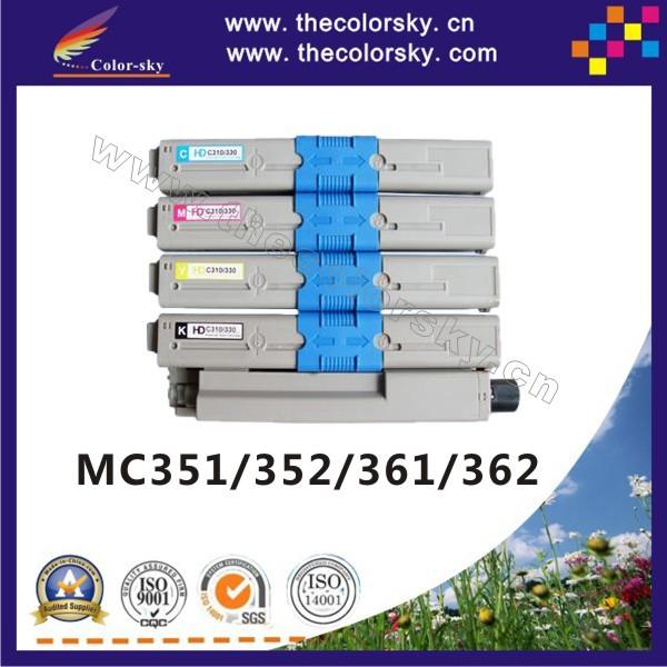 (CS-OMC351) print top premium toner cartridge for OKI MC351 MC352 MC361 MC362 MC-351 MC-352 MC-361 MC-362 kcmy 3.5k/2k free dhl<br><br>Aliexpress