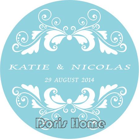 Free Shipping New custom Adhesive Sticker / Label for Wedding / Baby Shower 3cm,W22(China (Mainland))