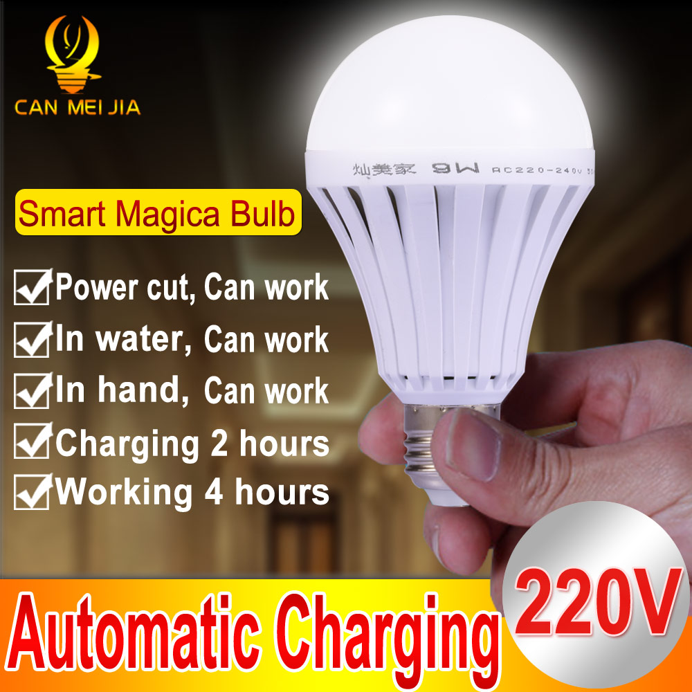 E27 Led Intelligent Magical Lamps 5W 7W 9W 12W E27 Emergency Light Bulb Rechargeable Led Lighting Outdoor 220V Bombillas Light(China (Mainland))