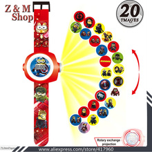 minions digital projection watch cartoon hot sale christmas gifts for children led digital watch for kids despicable me 2 watch