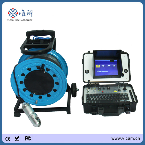 100m water well detection equipment borehole drilling machine well cameras inspection V8-3288PT-2(China (Mainland))