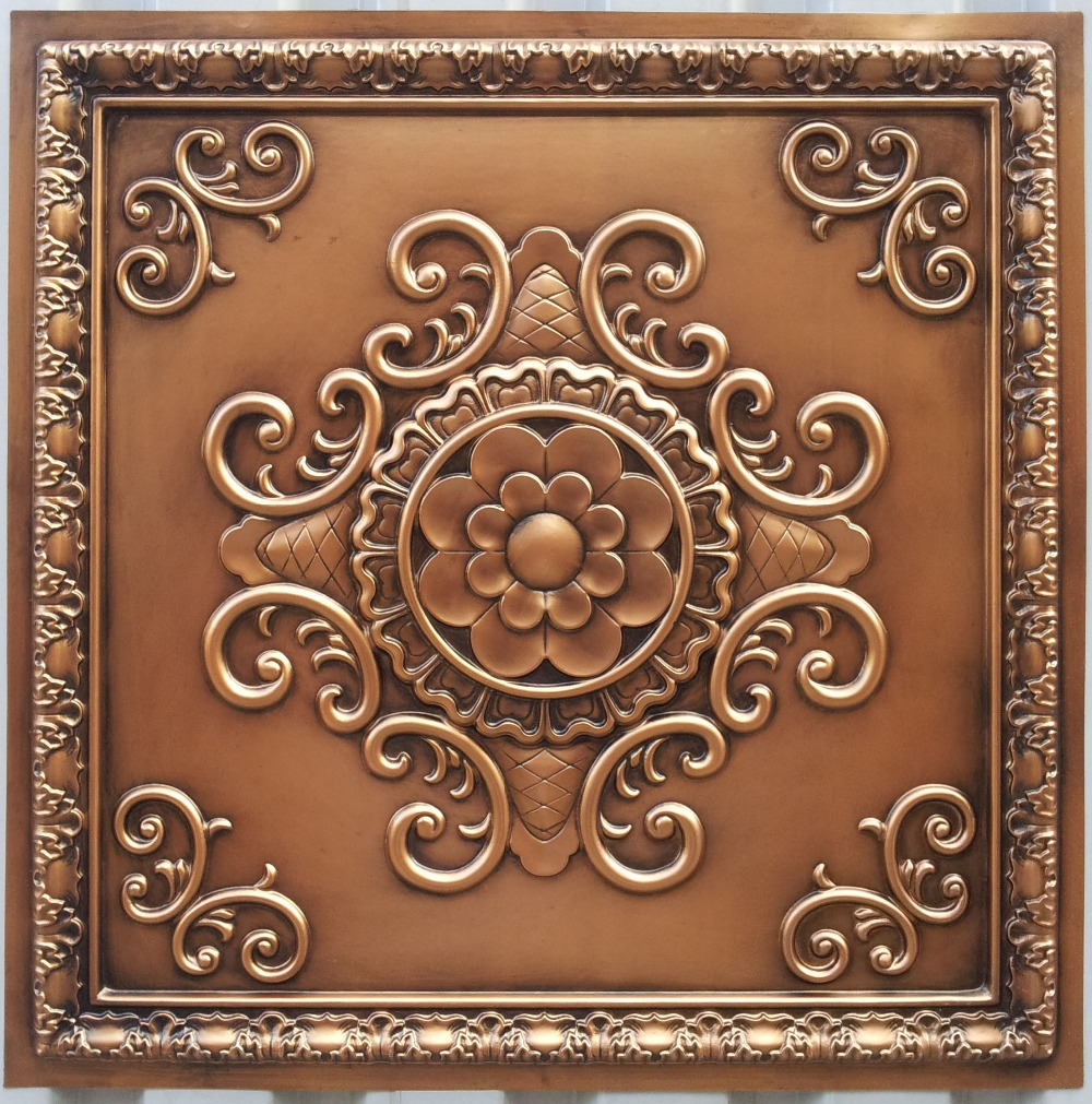 Pl08 faux finishing antique copper ceiling tiles three dimentional 3d decorative ceiling board - Different types of decorative ceiling tiles you can find ...