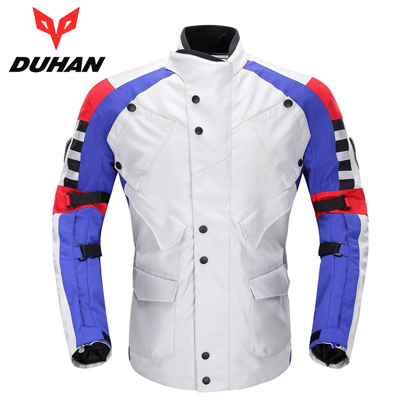 DUHAN Windproof Waterproof Body Protective Clothing Motocross Off-Road Riding Jaqueta Oxford Cloth Motorcycle Racing Jackets(China (Mainland))