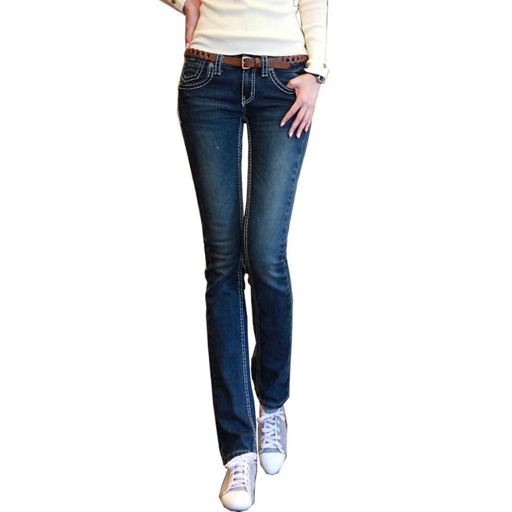 Stretch Jeans Women Vintage Boot Cut Pencil Pants Jeans ...