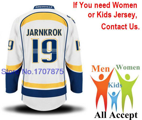 introduction goods 19 Calle Jarnkrok Jersey Nashville Ice Hockey Jersey,Yellow White, Best Stitched embroidery vip price(China (Mainland))