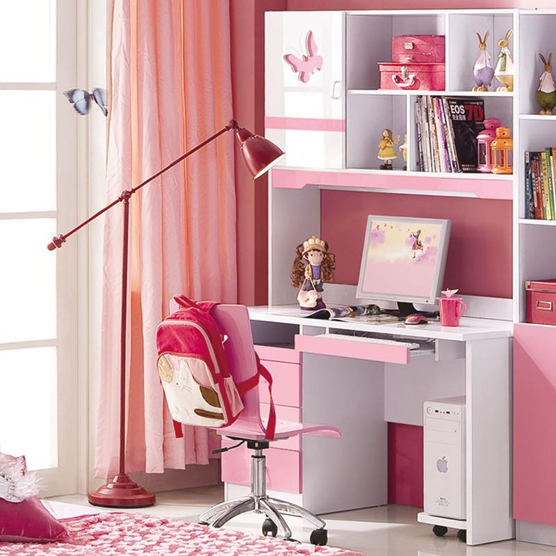 computer desk princess girl home computer desk-in Children Furniture