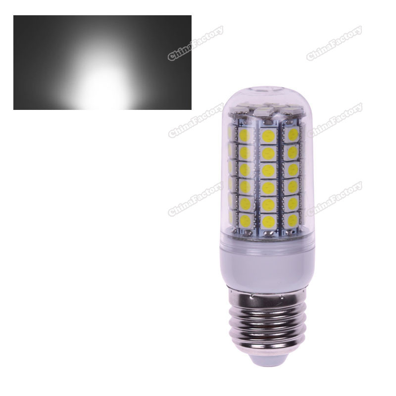 chinafactory quality assurance E27 5.5W 69 LED 5050 SMD Cover Corn Spotlight Light Lamp Bulb Warm Pure White buying quickly(China (Mainland))