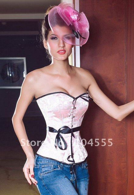3.25 Shopping Festival Free Shipping Embroidered Overbust sexy Bustier Sexy corset Sexy Lingerie wholesale retail