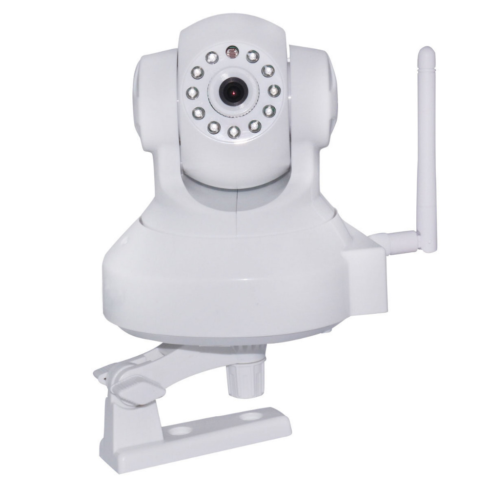Onvif 720P HD 3x Digital Zoom PTZ WiFi Wireless HD Internet WLAN Network IP Camera White Security Surveillance Email Audio Alarm(China (Mainland))