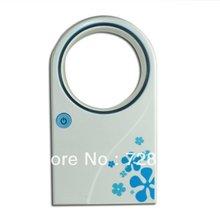 Hk синий Mini портативная нет листья воздушный состояние Bladeless холодильное вентиляторы USB настольная