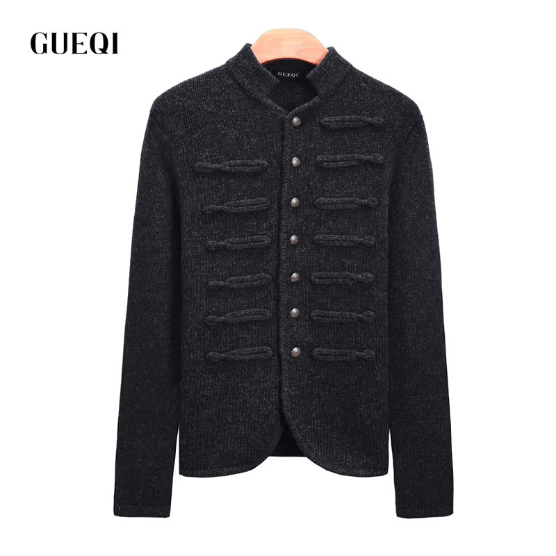 Cardigan men sweater wool coat brand clothing jersey hombre knitted man Cardigan sweater coat cardigans solid color M~XXL(China (Mainland))