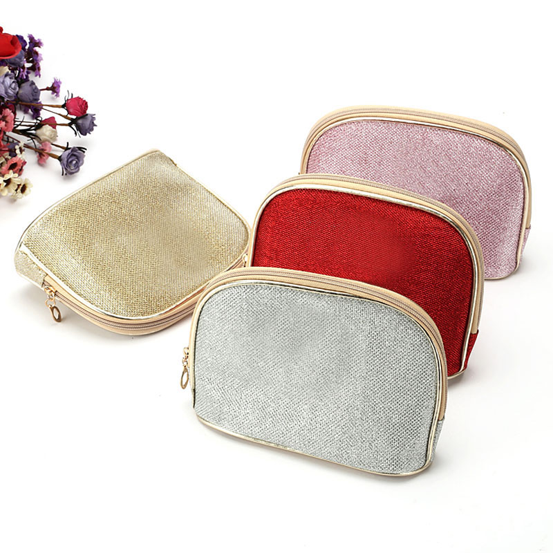 Fashion Shell Shape Makeup Bag Storage Traveling Shell Zipper Cosmetics Cases Bag Phone Purse(China (Mainland))
