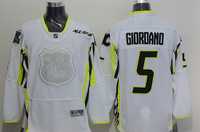 Calgary Flames #5 Mark Giordano Men's Ice Hockey Jersey 2015 All Star NHL Jersey, 100% Stitched Logos, Free Shipping
