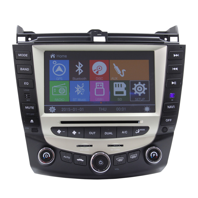 Car DVD Player GPS Navigation System For Honda Accord 2003-2007 radio Bluetooth Steering Wheel(China (Mainland))