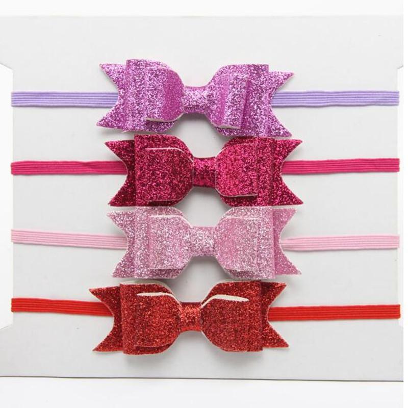 Little Girls Hairbow ,Shiny Bow Baby Girls Hair wraps,Infant headband ,birthday photo prop ,baby bow headband(China (Mainland))