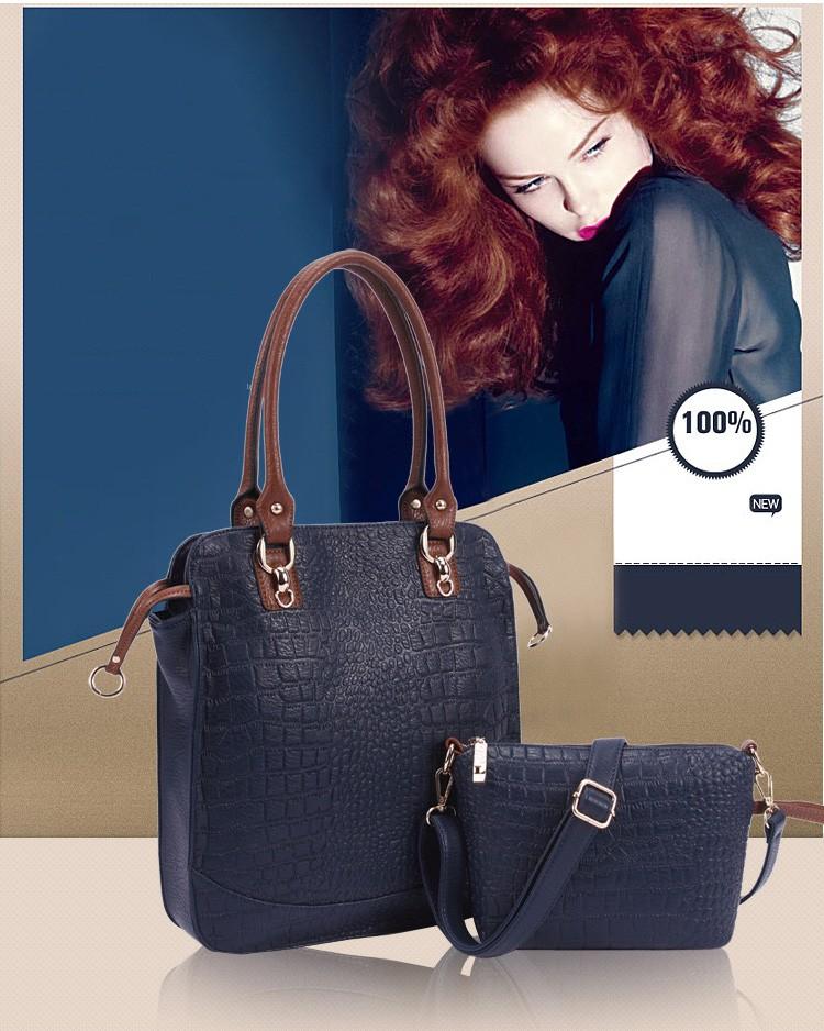 New  women bag high quality elegant composite PU leather handbag fashion  women messenger bags 2015 shoulder bag bolsos BH846 (12)