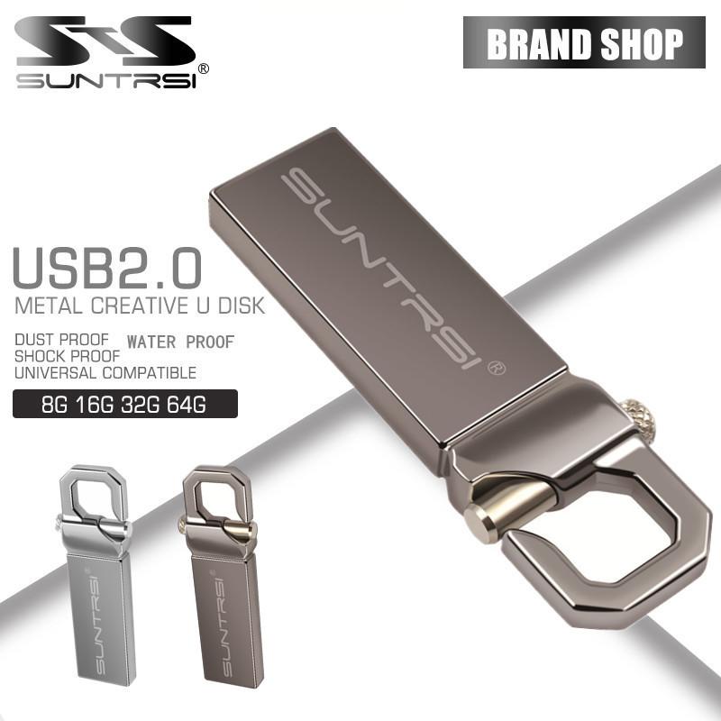 Suntrsi Hot USB Flash Drive real capacity pen Drive 64G 32G 2G 4G 8G 16G thumb pendrive usb 2.0 memory stick u disk free ship(China (Mainland))