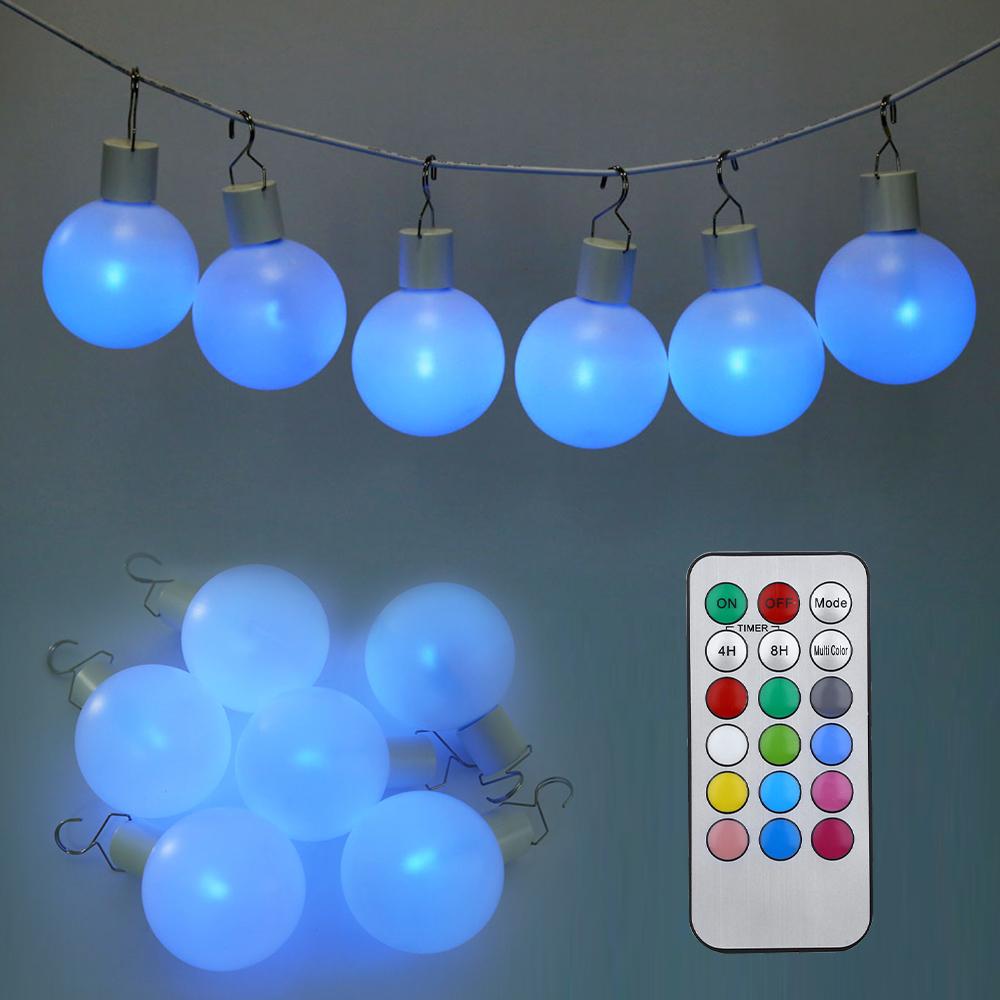 2016 Hot Simple Elegant Design Colorful Night Light 6pcs Multi-functional LED Remote Control Ball Light Christmas Ornament Bulb(China (Mainland))