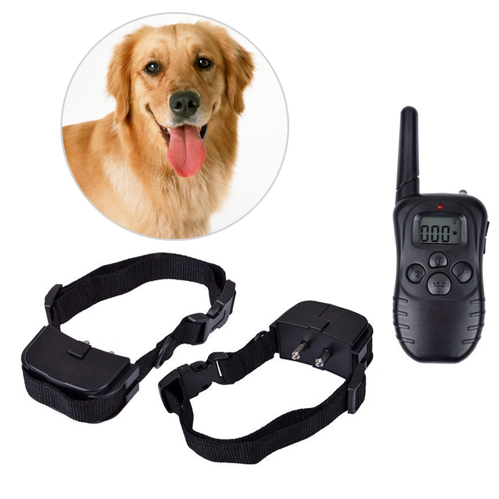 Pet Dog Training Collar 988D 300M LCD 100LV 300 Yard Level Electric Shock Vibration Remote without Battery & Retail Package(China (Mainland))