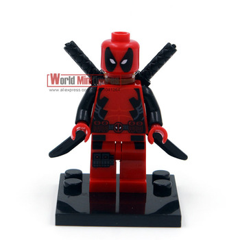 Single sale X013 deadpool Minifigure Marvel X-man Super hero Classic Figures Collection Children Gift toys