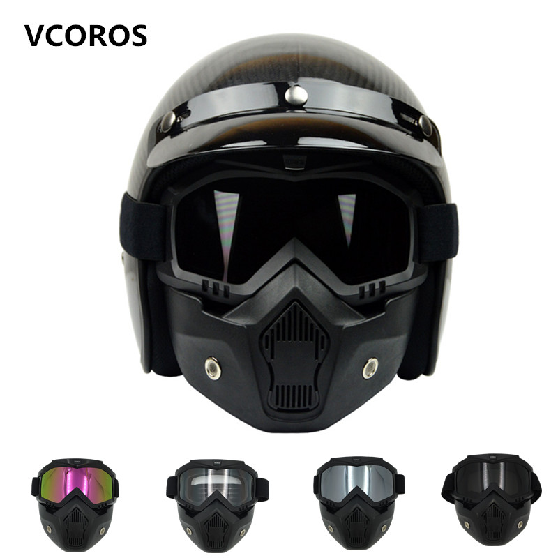 Vcoros vintage helmet Mask Detachable Goggles for scooter jet helmets sking coolplay goggles the same to BEON Mask(China (Mainland))