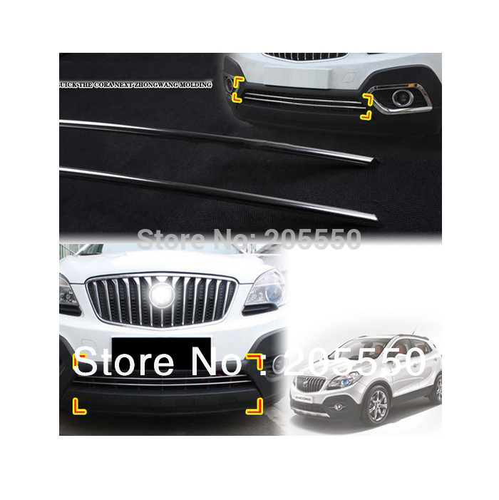 Front Radiator Hood Grill Chrome Trim Exterior fit For 2013 Buick Encore OPEL VAUXHALL MOKKA 2pcs per set<br><br>Aliexpress