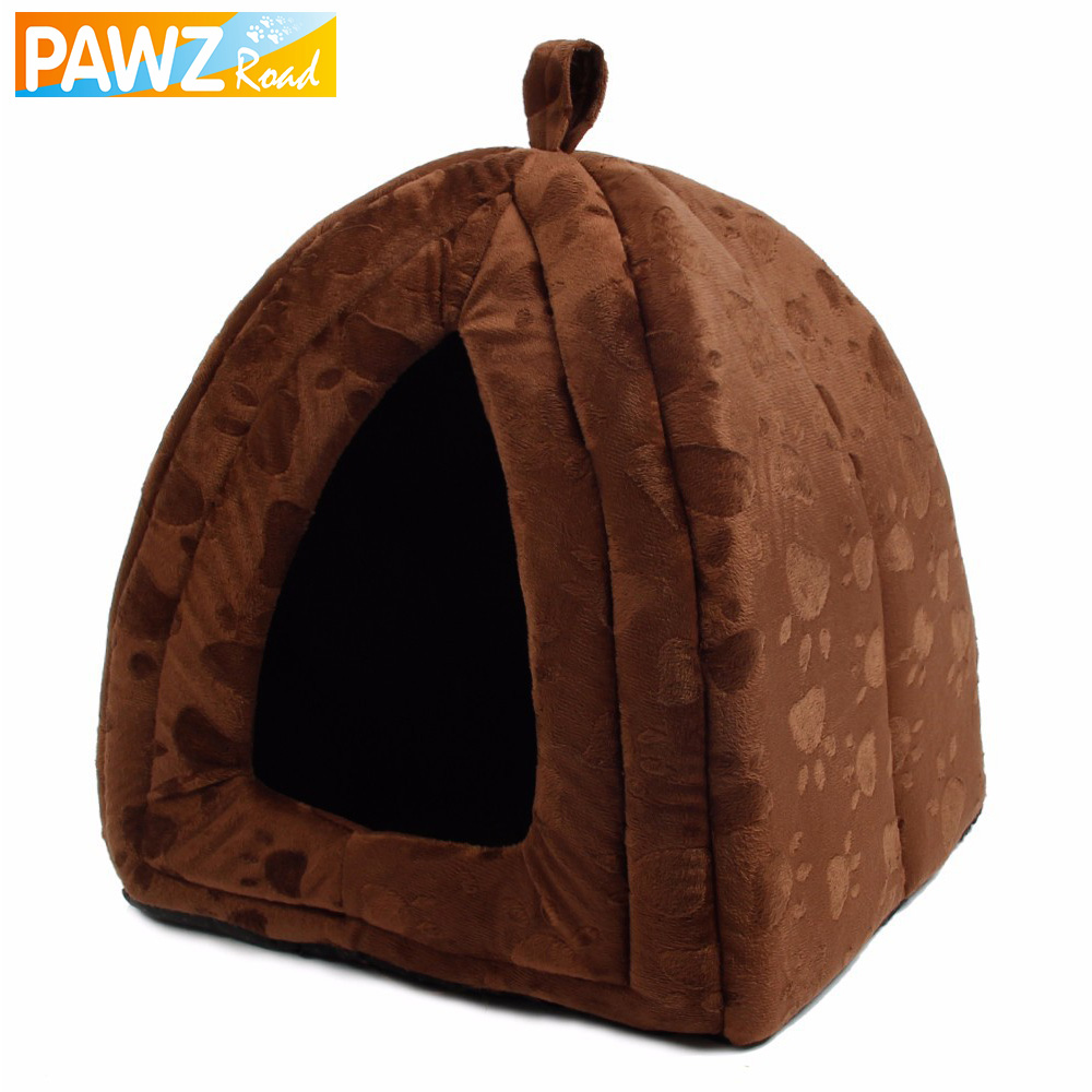 Wholesale Price Cat House and Pet Beds 5 Colors Beige and Red Purple, Khaki, Black with Paw Stripe, White with Paw Stripe(China (Mainland))