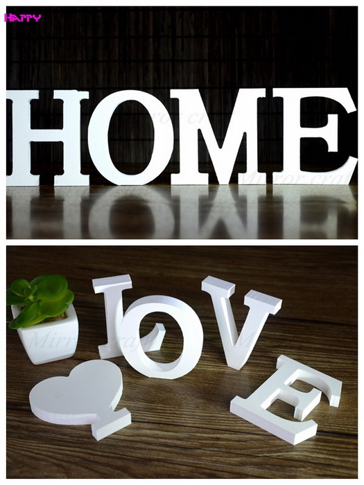 Free Shipping 7*8 CM Standing English letters Decorative Wooden Letter Alphabet A-Z Wedding Gift Store Decor A-Z Choose HP54(China (Mainland))