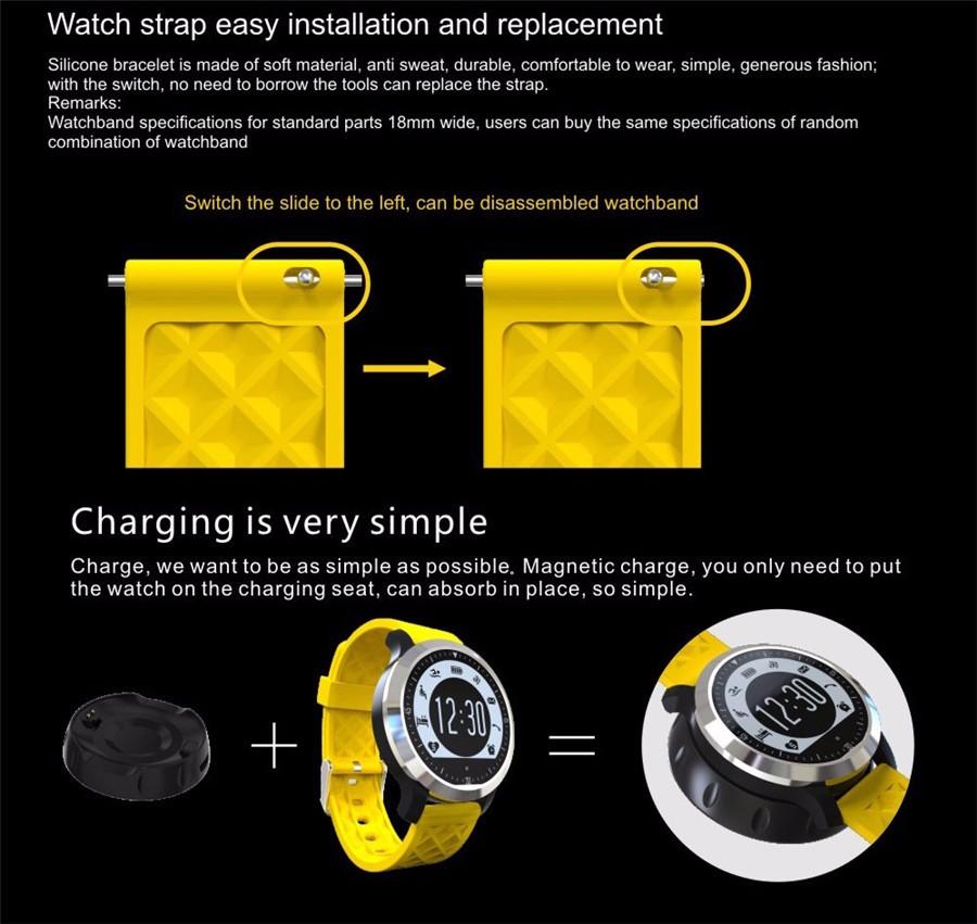2016 New F69 Bluetooth Smart Watch Wrist Watch Men Sport Watch For Android Phone 0.3Mp Camera SIM+TF Card Slot 450Mah Battery
