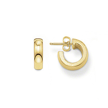 TS Jewelry Gold Plated Hinged Hoop Creoles Earrings, Thomas Style Glam and Soul Jewellery Gift Creolen Earings for Women
