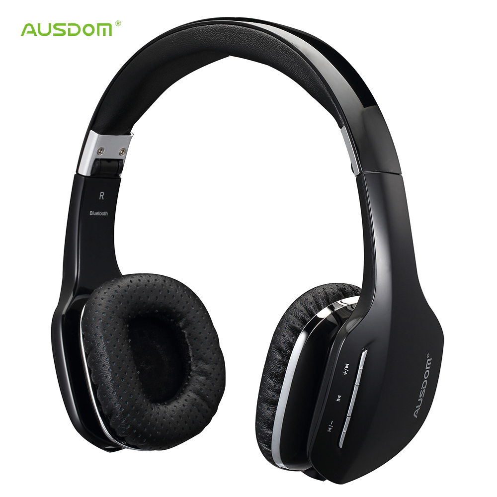 AUSDOM M07 Wireless Bluetooth Headphone Foldable Stereo 4.0 Headset Handsfree Headband Music Player for iPhone iPad iPod Samsung(China (Mainland))
