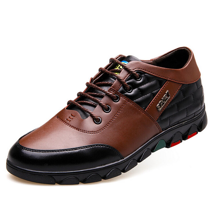 11.11 Zapatos Hombre Men High Increasing Genuine Leather Casual Shoes Autumn Shoes For Men High Quality Men Elevator Shoes<br><br>Aliexpress