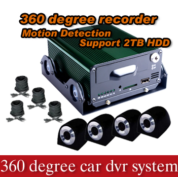 Four cameras manual car camera hd dvr suport 2TB Hard disk storage-Model X2500B(China (Mainland))