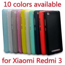 Phone Case for Xiaomi Redmi 3 (5.0inch) Ultra Slim Fit 0.5mm Soft Transparent or Matte TPU Back Cover for Xiaomi Redmi3(China (Mainland))
