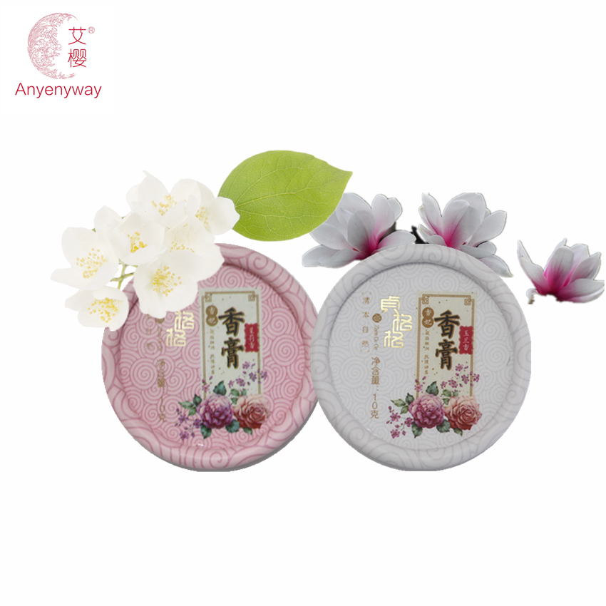2 Pcs Jasmine+Magnolia brand 100 original Solid perfumes and fragrances for women Fragrance parfum Deodorant Balsam make up(China (Mainland))