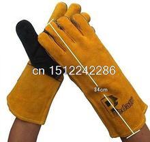 Lengthen Wearproof  Welding Gloves 12cmx34cm Protective wear(China (Mainland))