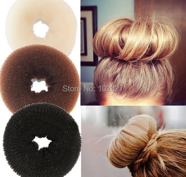 New Hair Accessaries Foaming Ball Shape Hair Bun Ring Donut Shaper Former Sponge Maker Tool 3 Size(China (Mainland))