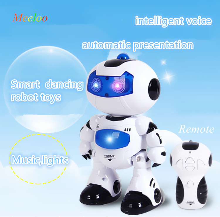 CCTV Recommend New 4.5-way remote control electric sound and light puzzle dancing robot model Action & Toy Figures for children(China (Mainland))