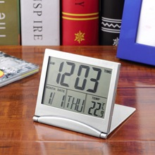 1pcs Calendar Alarm Clock Display date time temperature flexible mini Desk Digital LCD Thermometer cover Hot Search(China (Mainland))
