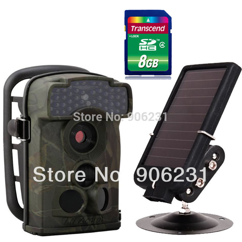 Free Shipping!8GB Ltl Acorn 5310A 720P Video 44 LEDs Infrared Trail Scouting Hunting Camera Game+Solar battery(China (Mainland))