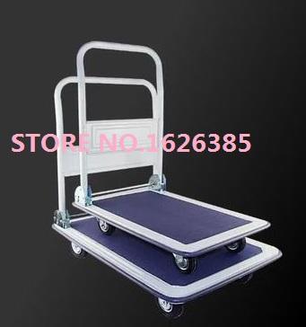 300KG rolling needle bearing wheel Silent folding trolley cargo cart cargo trolley trailer trucks hand trolley(China (Mainland))