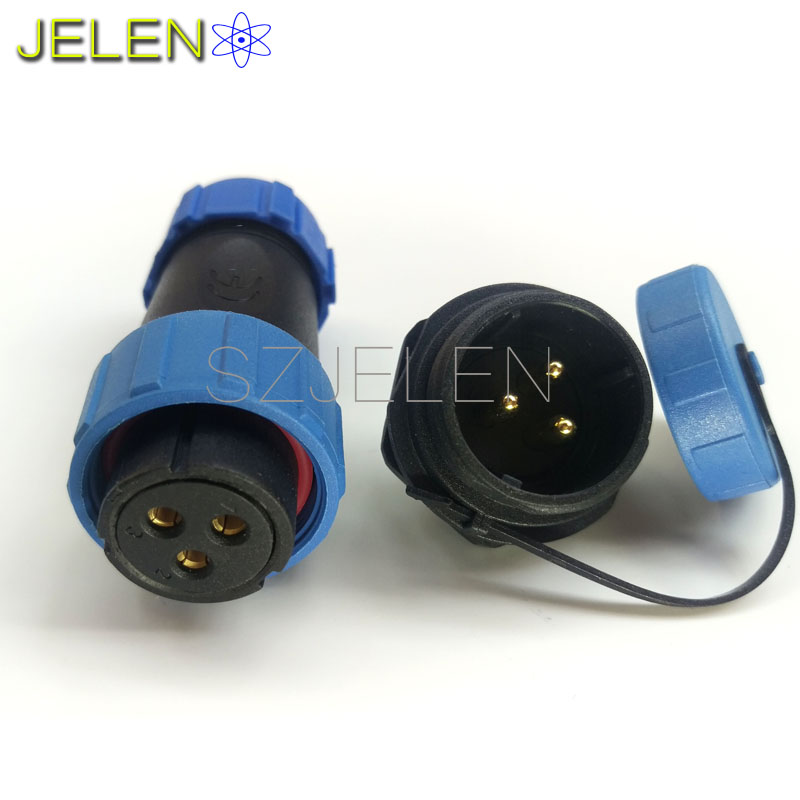 SP2110/S,Retail and wholesale, high-voltage cable connector 3 pin,Female plug, male socket,Inversion waterproof Connector,IP68(China (Mainland))