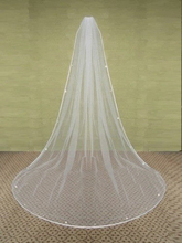 W1028 New Wedding Accessories Tulle Free Shipping 2.5 Meters Long Simple Ribbon Edge One Layer Bridal Veils 2015 Cheap Stunning(China (Mainland))