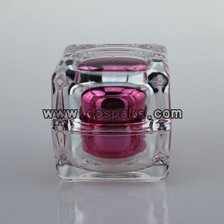 30ml jars for cosmetic cream, pink square shape empty cream jars, 30g cream jars cosmetic packaging<br><br>Aliexpress