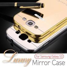 For samsung galaxy S3 I9300, 2015 New Fashion Luxury Elegant High Quality Metal Aluminum Case + Acrylic mirror Back Cover Case(China (Mainland))