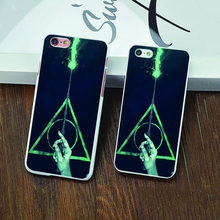 Buy White Skin Harry Potter Deathly Hallows Style Hard cover back case iphone 4 4s 5 5c 5s 6 6s plus for $1.44 in AliExpress store