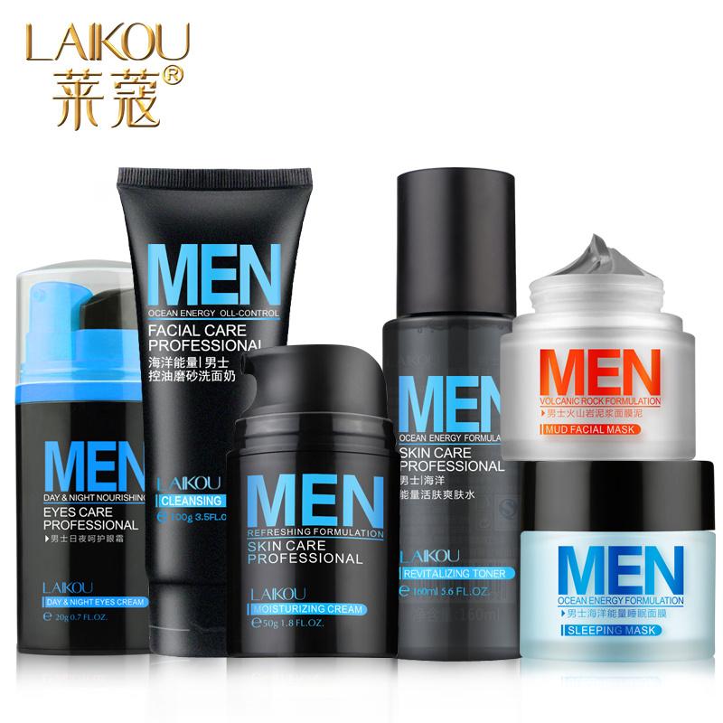 Levin Kou mens skin care cosmetics 6 Set Oil Control Lotion moisturizing cleanser cream Eye Mask<br><br>Aliexpress
